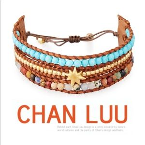 Chan Luu Boho 3-Strand Beaded Pull-Tie Bracelet